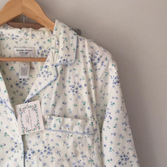 7051eb1974de Amanda Stewart Intimates & Sleepwear | Floral Flannel Pajamas Size M ...